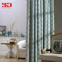 Modern Curtains For Living Room Lantern Cotton Blinds Geometric Drapes For Bedroom Window Treatments Shade Panels