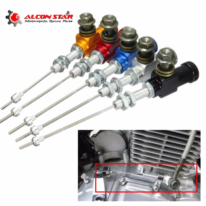 Alconstar- Motorcycle Hydraulic Clutch Master Cylinder Rod Brake Pump M10x1.25mm Aluminum for Honda for Yamaha 125-250cc Engine 14mm brake pump master cylinder piston pump seal preventing dust seal component sight glass repair kits for gn250 1982 2001