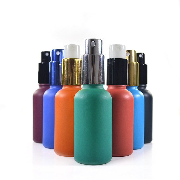 Frosted Green Glass Bottle 30ml 1 Oz Airless Pump Perfume