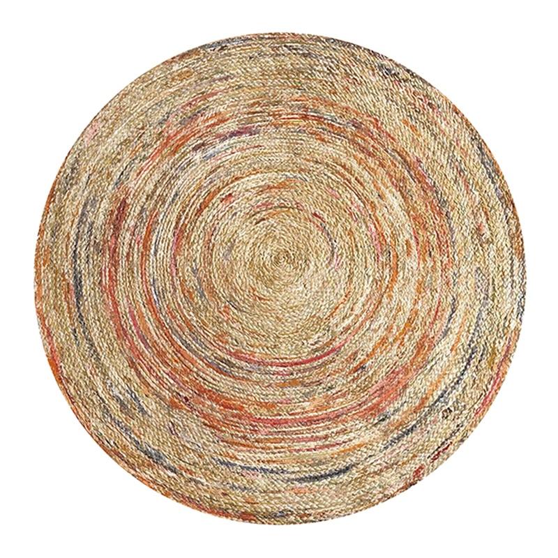 1 19 38 De Reduction Geometrique Nordique Imprime Tapis Rond Pour Salon Persan Mandala Tapis Rond Chambre D Enfants Grand Tapis Maison Chambre