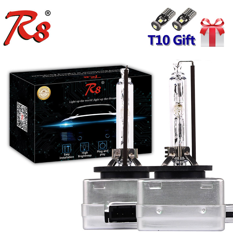 R8 Brand High Quality 2 Pieces Car HID Xenon Headlight Bulb D2S D2R D1S D3S D4 Light 35W 12V 4300K 6000K 8000K For Audi BMW Benz