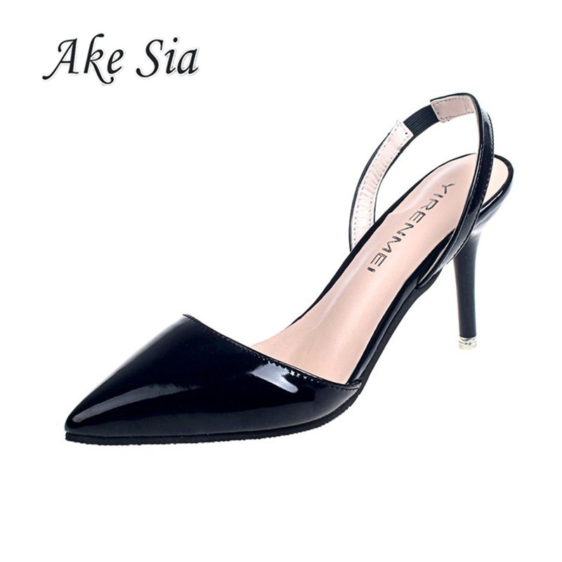 2019 Spring Fashion Summer Women Heel High Heels Sandals Lady Pumps Shoes Sexy Women Party Shoes Wedding Slingbacks  F026