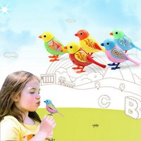Intelligent Electric Bird Talking Parrot Birds Pets Sound Whistle Induction Concert Bird With Cage Kids Toys