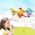 Talking Parrot Pássaro Elétrica inteligente Indução Apito de Som Concerto Pássaro com Gaiola de Aves e animais de Estimação Crianças Brinquedos Para Presente Das Crianças