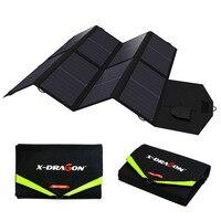 Зарядное устройство для ноутбука зарядное устройство 5 в USB выход портативный складной Дополнительный внешний аккумулятор Солнечное заряд