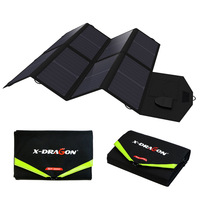 18V28W Folding Portable Solar Panel Battery Charger Dual Output For IPhone IPad Solar Panel Laptop