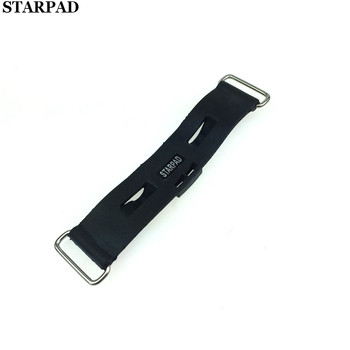 STARPAD For Wangjiang Suzuki GN250 battery fixing tape Motorcycle electric car plastic tape accessories soft rubber hook image