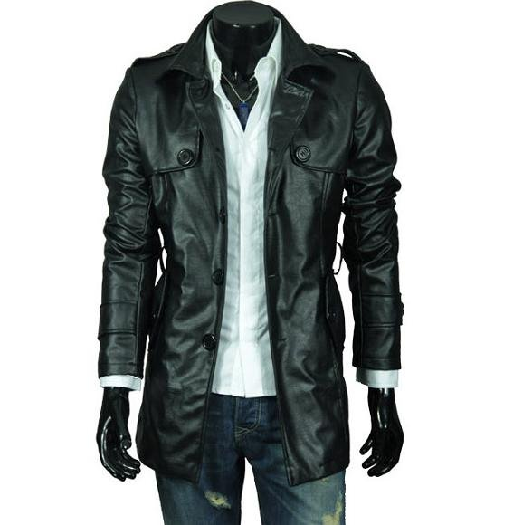 Fast Shipping 2018 New Mens Leather Jacekt +Men S Casual Jacket Slim Fit With Belt ,Pu L ...