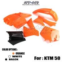 Cool Fairing body PLASTICS COVER KIT ORANGE set fender plastic OEM NEW for KTM SX 50CC 50 50SX KTM50 SENIOR JUNIOR JR SR