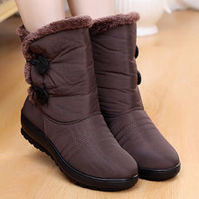 Non-Slip Snow Boots 2018 New Women Boots Warm Winter Boots Waterproof Mother Shoes Winter Women Shoes Plus Velvet Cotton Boots(China)