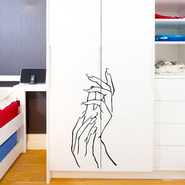 Online Shop Modern Applaud Hands Nails Salon Bar Decorative Wall ...