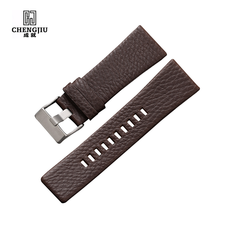 Universal Leather Watch Band For Diesel Watch Strap Wrist Watch Belt For DZ7313/22/7257 Bracelet DZ Watchband Straps 20 24 26 28 2017 new lifting moving strap furniture transport belt in wrist straps team straps mover easier conveying belt orange