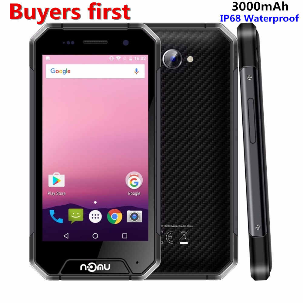 "nomu S30 Mini IP68 Waterproof Android 7.0 Mobile Phone 4.7"" 3GB RAM 32GB ROM MTK6737T Quad Core 8MP Dustproof3000mAh Smartphone"