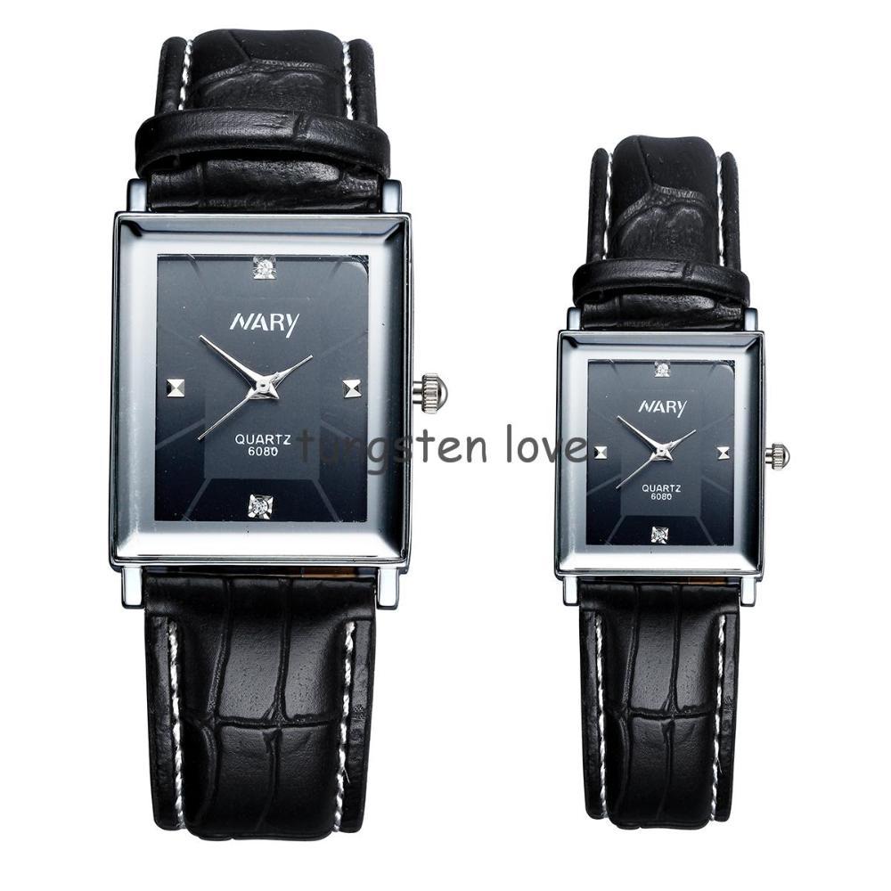 1 piece Class Leather Gentleman Mens womens Analog Casual Fashion Gift Dress Quartz Wrist Watches Men wristwatches