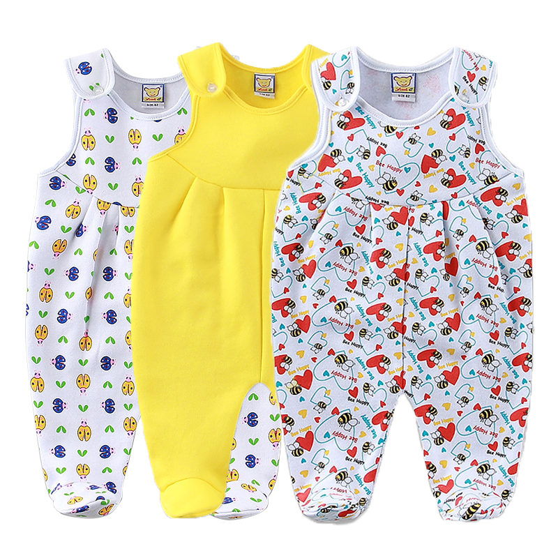 2019 New Style Baby Fleece Rompers Newborn Solid Color Clothes 3pcs/lot Kids Clothing Girls Sleepwear Little Q Overalls