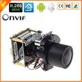 BESDER 4MP H.265 IP Módulo Da Câmera Zoom 4X Auto Varifocal Auto Iris Lens 2.8-12mm HI3516D + 1/3 ''OV4689 Resolução 2560*1440