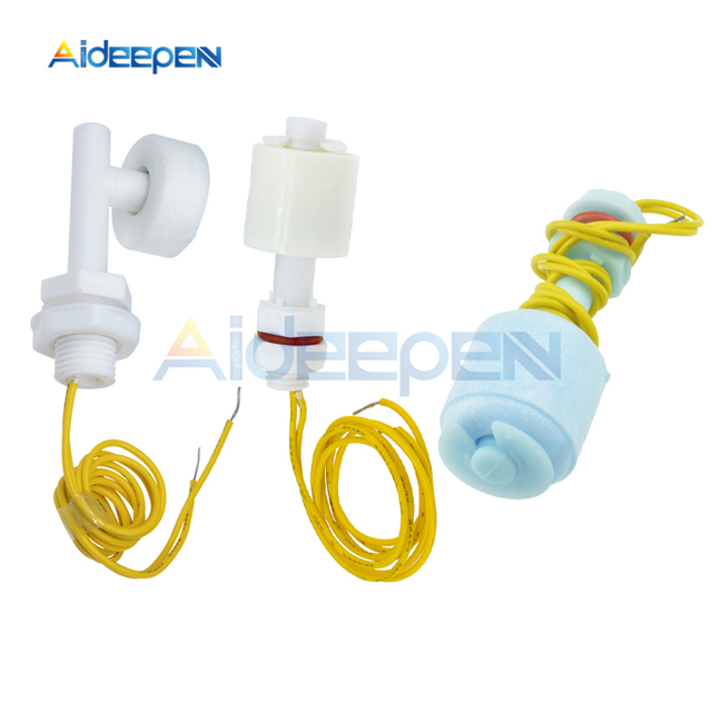 52mm PP Flüssiges Wasser Level Sensor Horizontale Float Schalter Unten P45 Niedrigen Druck Float Schalter Für Aquarium Switchs sensoren