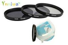 3 unids/set 49 52 55 58 62 67 72 77mm ND2 ND4 ND8 filtro de densidad neutra con caja para canon nikon DSLR lente envío gratis con seguimiento