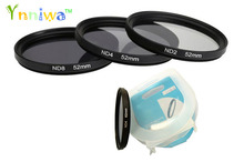 3pcs/set 49 52 55 58 62 67 72 77mm ND2 ND4 ND8 Neutral Density filter with box for canon nikon DSLR lens free ship with tracking