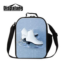 Dispalang Portable Insulated Lunch Bag Skates Print Thermal Food Picnic for Girls Kids Cooler Lunch Box Bag Tote(China)