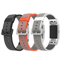 Watchband Nylon Release Sports Royal Woven Nylon Bracelet Strap Band For Fitbit Charge 2 Smart Watch