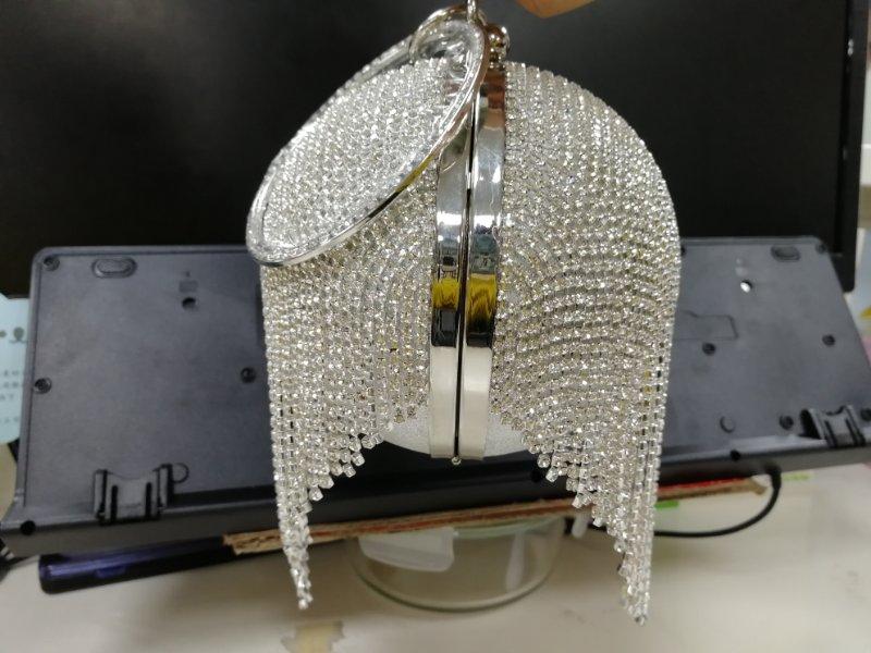 diamantes strass anel bolsa embraiagens bola redonda