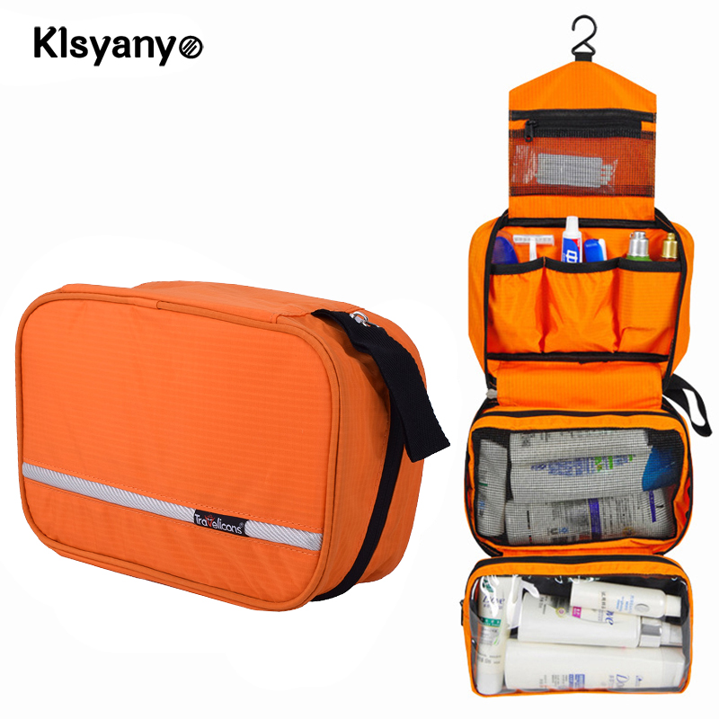 Klsyanyo Multi-functional Waterproof Compact Hanging Cosmetic Travel Bag Toiletry Neceser Wash Bag Makeup Necessaire Organizer 3pcs cosmetic case toiletry bag travel organizador wash makeup bags case holder pouch kits set owl zebra neceser para mujer