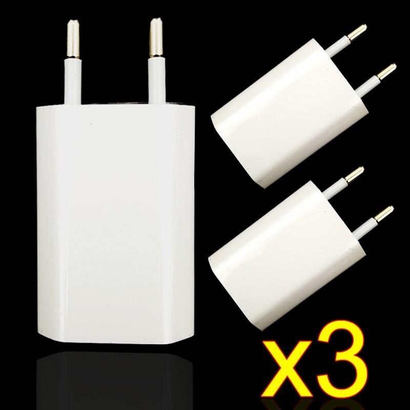 3 Pcs/Lot EU Plug Wall AC USB <font><b>Charger</b></font> For Apple iPhone 4 5 5S 6 6S 7 <font><b>Charger</b></font> Adapter For Samsung <font><b>Galaxy</b></font> S4 <font><b>S5</b></font> S6 S7 For Huawei