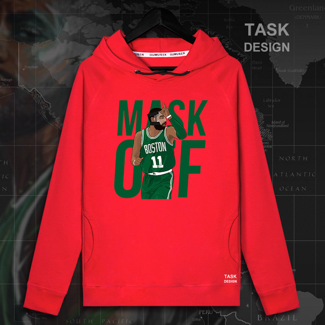 timeless design 952d0 af819 Aliexpress.com : Buy Kyrie Irving men Boston pullovers hoodies sweatshirt  Celtics clothes streetwear casual tracksuit the fans USA basketballer 09 ...
