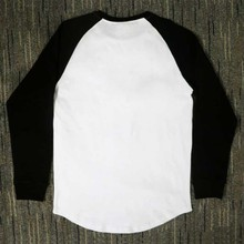 Casual Hip Hop Irregular cut Splicing Long sleeve T-shirts
