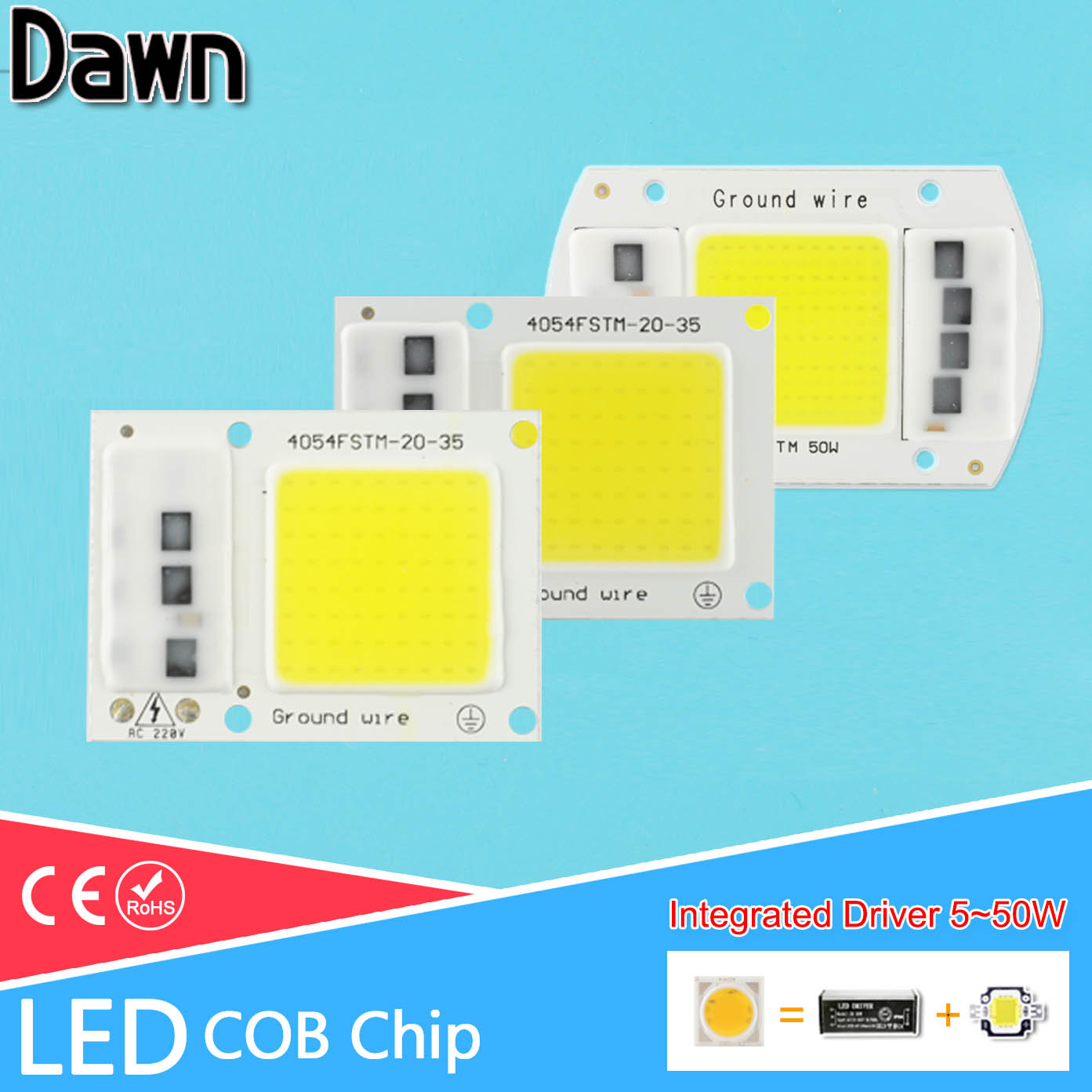 1~5Pcs COB LED Chip 220V Integrated Smart IC Lamp 5W 10W 20W 30W 50W For Outdoor FloodLight Downlight Cold White/Warm White бесплатная доставка integrated circuit ds1744w 120ind ic rtc ram y2k 3 3 в 120ns 28 edip 1744 ds1744 1 шт