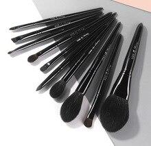 10 pz/set Pro Capra dei capelli spazzole di Trucco della Polvere Fard Evidenziatore Correttore ombretto Miscelazione Contorno