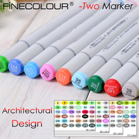 Finecolour Two Architectural Design Double Ended Marker Pen Art Drawing Alcohol Based Students Sketch