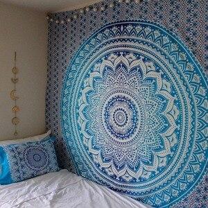 Image 5 - CAMMITEVER grande tapisserie Mandala indienne, serviette de plage, style bohème, couverture fine, châle de Yoga, 210x150cm