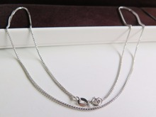 NEW 18K White Gold Necklace Special Wheat Link Chain Necklace 42cm L