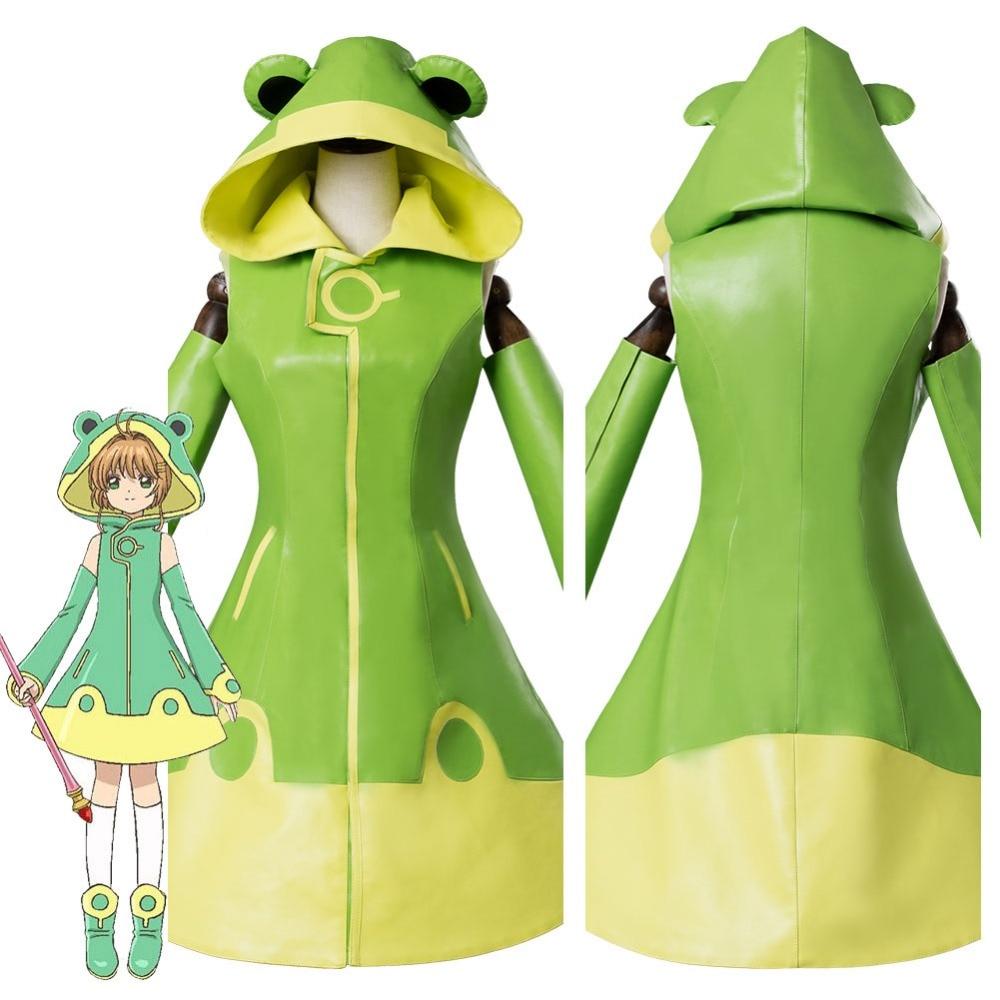 Clear Card Sakura Kinomoto Frog Dress Cosplay Costume Cardcaptor Sakura