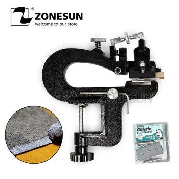 ZONESUN кожанное устройство для очистки овощей, макс. 35 мм ширина, ручная Кожа, инструмент для снятия кожуры, овощечистка