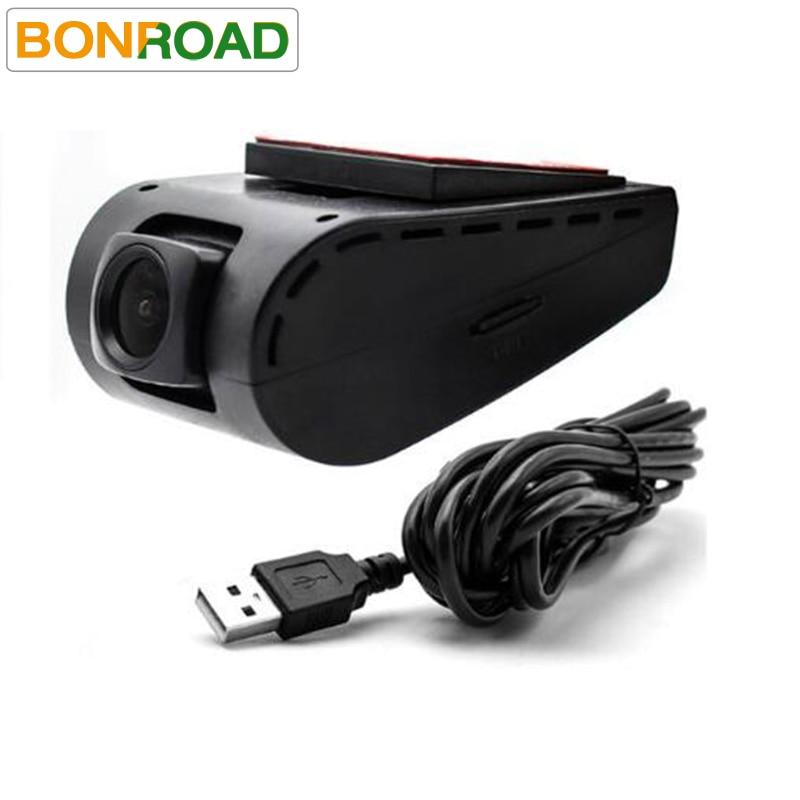 imágenes para Frente Cámara DVR Cámara Grabadora de Vídeo USB para Android 4.4 5.1 6.0 OS Dvd de Navegación GPS Radio Reproductor de DVD DEL COCHE Con TF