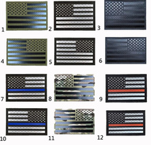 2019 CREATRILL Embroiderey Reflective American Flag United States USA US Flags IR Patches Military Tactical Morale Patch