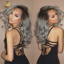 8A Glueless Ombre Grey Virgin Brazilian Human Hair Wig Bleached Knots Full Lace Front Human Hair Wigs For Black Women