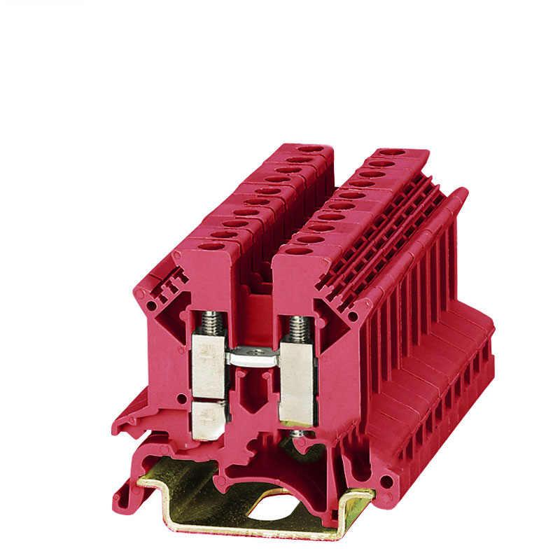 CE 1pcs 와이어 터미널 블록 UK-2.5B 범용 DIN 레일 러그 플레이트 배선 케이블 행 연결 구리 DIN 레일 장착 UK2.5B