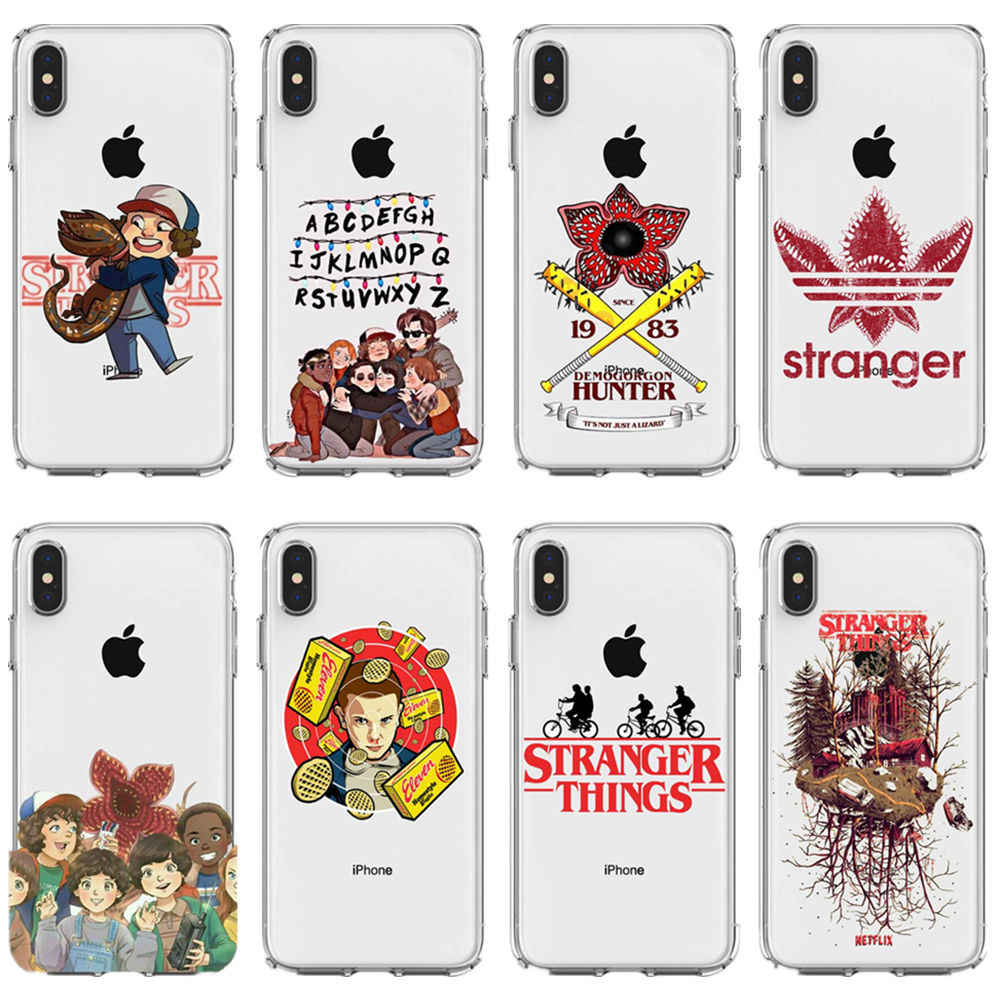 American TV Stranger Things season 3 soft silicone phone back cover for iPhone MAX XR XS SE 5 5S 6Plus 6 6S 7 8 7Plus 8Plus X10