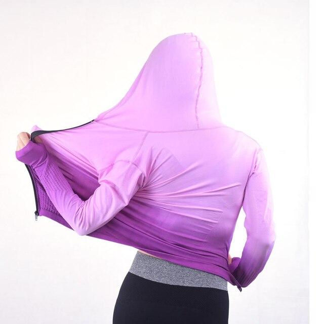2016 Gym Fitness Clothing Sport Sweatshirts For Female Women Hoody Yoga Autumn Coat Hoodies Workout Running Tees Jacket Tops