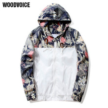 Woodvoice Men Windproof Hooded Jacket Zipper Outerwear Long Sleeves Brand Clothing Casual Jackets Thin Sunscreen Coat Wholesale