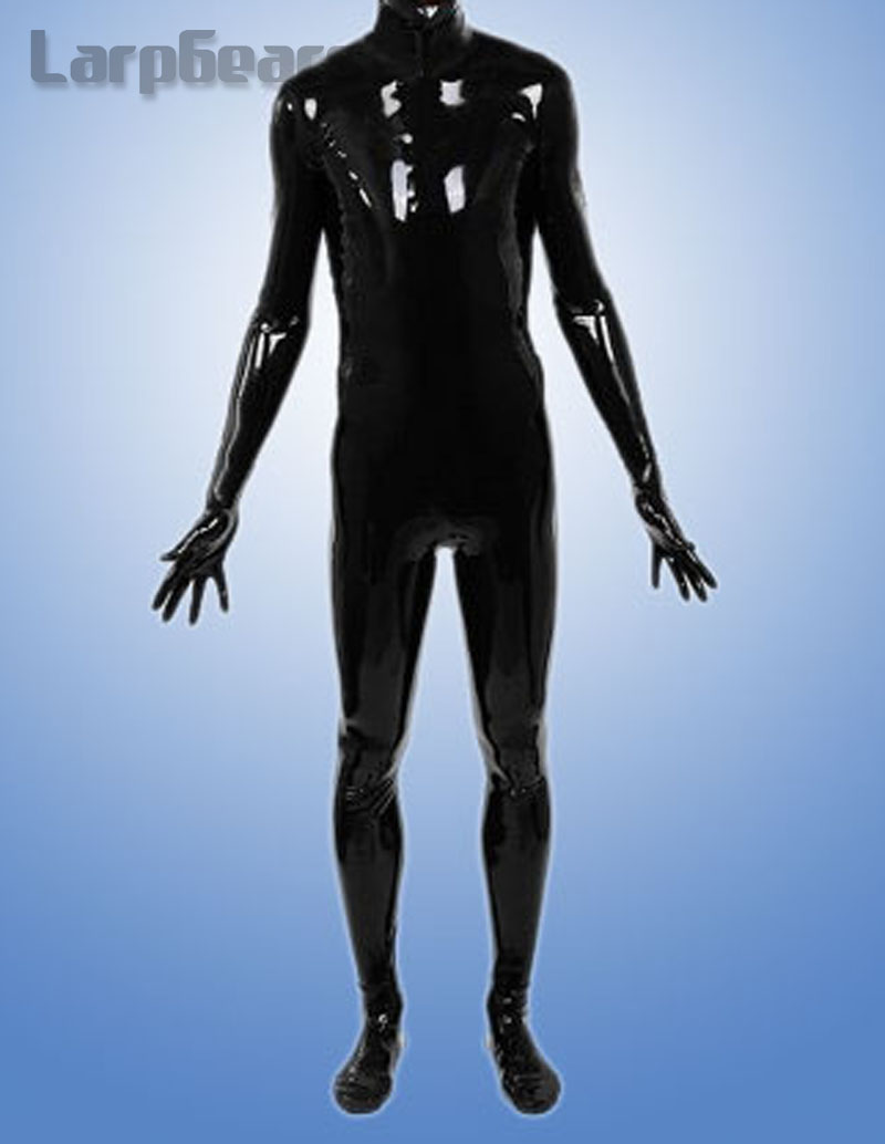 Man full cover latex catsuit with hood and socks gloves plus size custom made