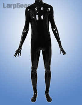 Man full cover latex catsuit with hood and socks, gloves plus size custom made - DISCOUNT ITEM  10% OFF All Category