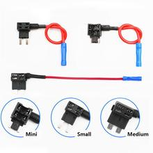 цена на 12V SMALL MEDIUM Car Fuse Add-a-circuit TAP Adapter Micro/Mini/Standard ATM APM Blade Auto Fuse holder XF30