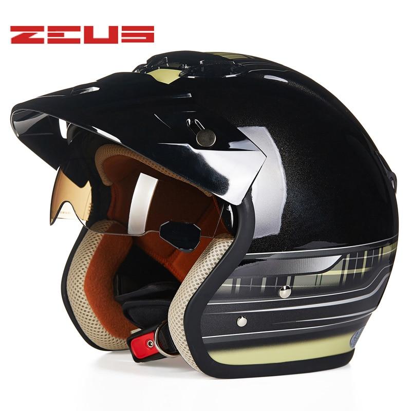 NEW 3 4 Helmet Motorcycle Helmet Retro Moto Casco scooter capacete open vintage face helmet DOT