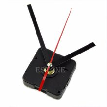 1 Set Silent large wall Clock Quartz Movement Mechanism Black and Red Hands Repair Kit Tool Set With Hook Saat Drop Shipping(China)