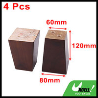 Home Furniture Desk Chair Sofa Legs Feet Replacement Brown 4 7 Inch Height 4 Pcs